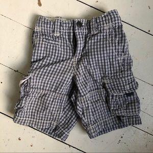 Gap cargo shorts, plaid
